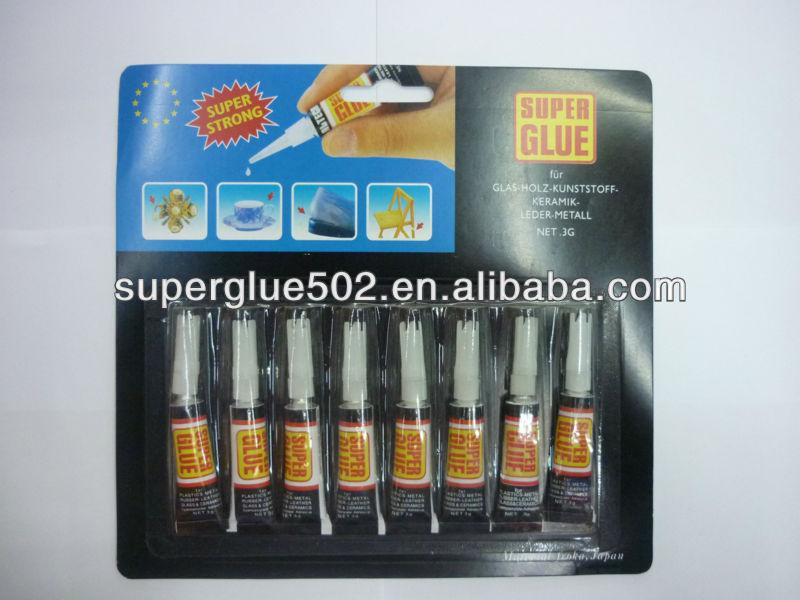 8pcs black card super glue