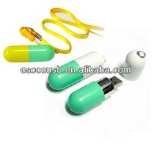 China OEM Pill shape 4GB flash drive, pendrive for promotions