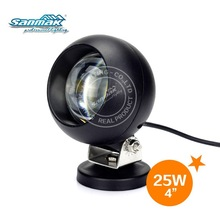 "Black white 4"" 25W LED marine work lights for motorcycle"
