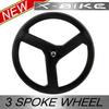 2014 XBIKE ultra light tubular road TT 3 spoke bike wheels