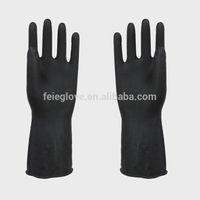 50-200g black industrial latex gloves heat resistant