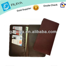 Leather Side Tear Card Checkbook Cover