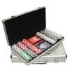 fireproof hard shell sturdy aluminum case poker set at factory price