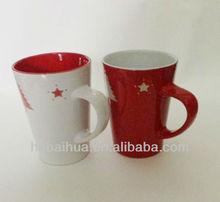 Christmas red ceramic mug