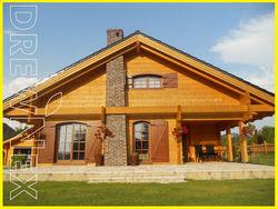 wooden log house mobile cottage chalet home