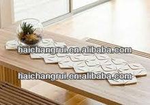 Modern felt table runner - felt home decoration