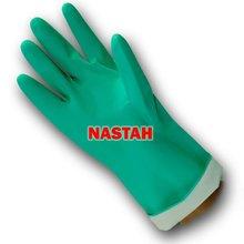 "Flocklined Chemical Resistant Nitrile Gloves (15 mil, 13"")"