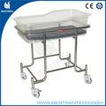 Bt-ab109 açoinoxidável baby hospital cama de ferro