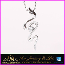 Chinese zodiac snake 925 sterling silver pendant