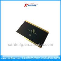 Plastic pvc matte gold vip cards membership cards