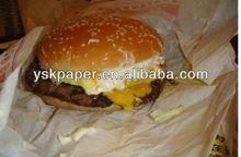 PE coated hamburger wrapper