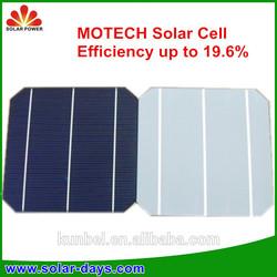 Solar system, 2013 Hottest Efficiency 17.2%-20% Grade A Monocrystalline 6*6/156*156 Solar Cell from TAIWAN Brand NSP/Motech