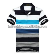 Hot sale dip dye mens short sleeve polo T-shirt