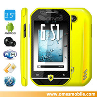 """New product F599 mobile 3.5"""" Capative touch screen MTK 6515m java game mobile games"""
