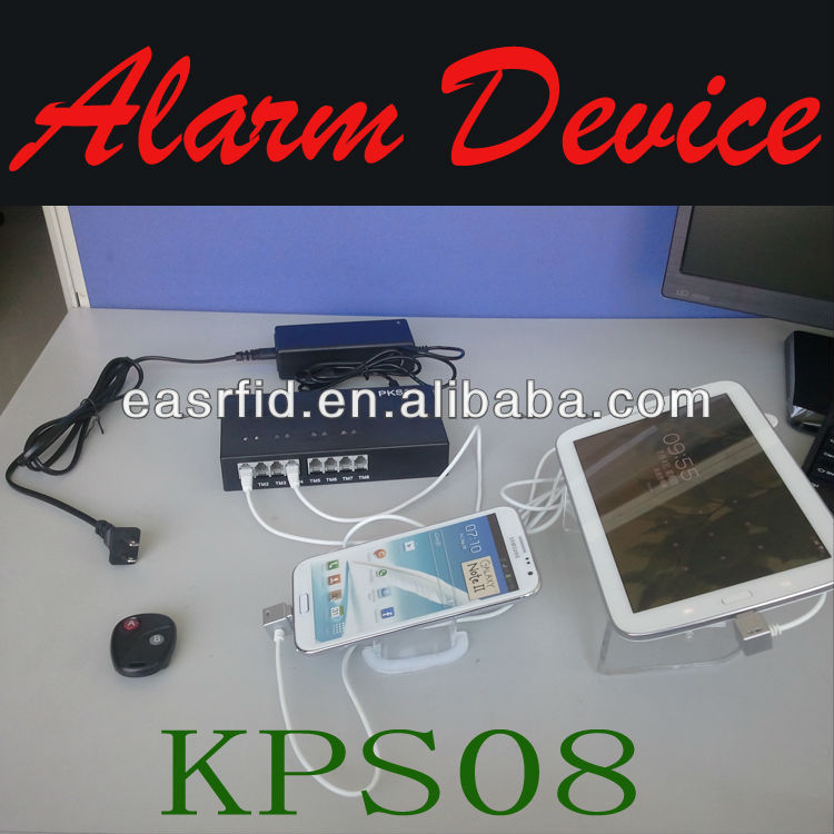 Retail Stores 8 ports mobile security device,retail 8 pots stores alarm system for mobile/notebook/tablet PC/camera