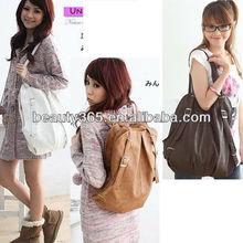 2013 Korean Style Fashion lady 2 Ways PU Leather School Backpack bag Shoulders Bag