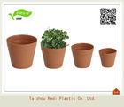 KD7-KD15 Clay pots looking plastic flower pots