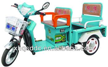 Folding backseat & Front seat flip loading system electro-tricycle