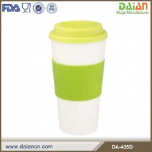 16oz plastic pint cup with lid and siliconce sleeve