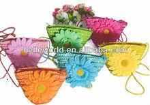 2013 fashion handmade flower straw beach bag