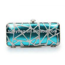 Elegant clear metal evening clutch bags