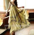 el último sin mangas sexy diseño de falda larga para la señora 2013