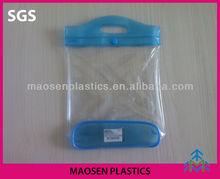Factory direct selling cosmetic bag plastic cosmetic bag ,pvc handle case pvc handbag