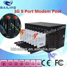 3G WCDMA HSDPA 8 Port Modem Pool for SMS MMS SMS Machine