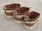 Eco-friendly cheap handmade woven straw large basket weaving