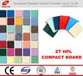 /hpl laminado de alta pressão; a placa laminada compacta