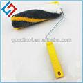 Gd1121 branco escova rolo de pintura com amarelo e cinza de três- cor da fibra química pincel e rolo