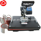 5 in 1 multifunction heat press machine for sublimation mug printing,T-shirt,cap,plate