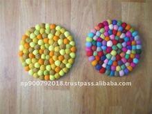 Colorful Felt Pot Round Mat