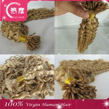 5A virgin brazilian hair weave blonde deep curly