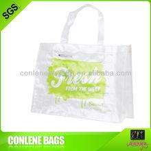 CMYK print transparent white woven bag