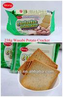 Wasabi spicy potato crackers