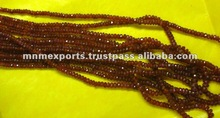african ruby faceted beads