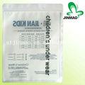 plástico transparente com zíper saco de vestuário para crianças sob o desgaste