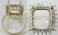 Semi-mount Diamond Rings