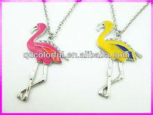 YN5713A lucky bird crane epoxy crystal necklaces for women custom pendant