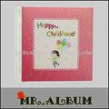 Novo estilo de impressão do bebê álbum com capa de couro