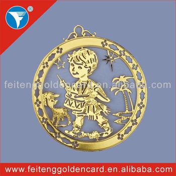 Home Decorative Golden Felt Ornament