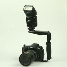 ET-FB03 Camera Flash Flip Bracket with Handle For Most Speedlights Camera Flash Bracket flash holder