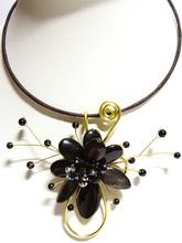 FLOWER DESIGN JEWELRY Costume Jewelry Set Artisan Handmade Shell Agate Choker [High Quality - Assorted Designs]
