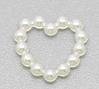 Acrylic Pearl Imitation Love Heart Embellishments Jewelry Findings 11x11mm