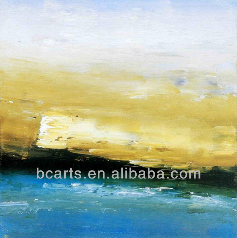 بسيطة الحديثة مجردة الطبيعية البرية والبحرية المشهد اليدوية الفن قماش اللوحات لتزيين الحائط للبيع