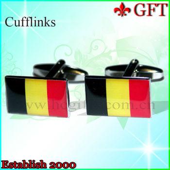 2013 Hottest sale!!New design of custom enamel cufflinks with epoxy.