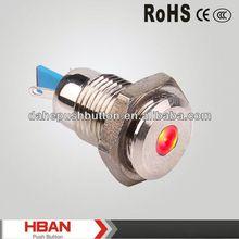CE RoHS HBGQ12F-D/N 15mA Pilot Lamp