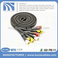 High Quality 1.5m/5ft 3RCA AV Kabel