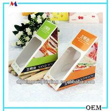 Paper triangle sandwich box for packaging/cardboard sandwich box
